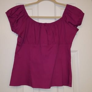 SALE Pinup Girl Clothing Peasant Top Sz L